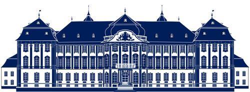 Schloss  blau DRUCK